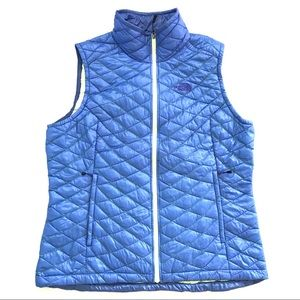 North face thermoball vest in coastline blue XL